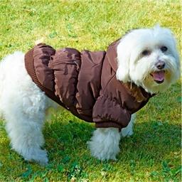 Doudoune marron ou rose pour chien
