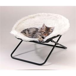 Couchette amovible chat blanc