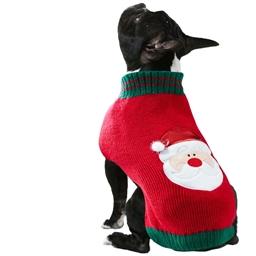 Pull Père Noël chien T36