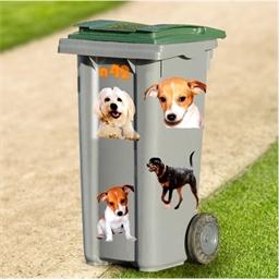 Décorations pour poubelles chiens