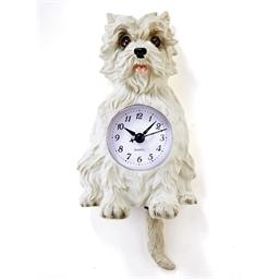 Horloge chat roux ou chien blanc