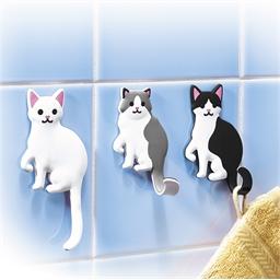 Lot de 3 crochets chats