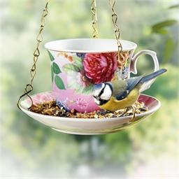 Mangeoire oiseau tasse à thé