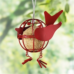 Oiseau porte boule de graisse