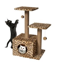 Arbre à chat motif léopard