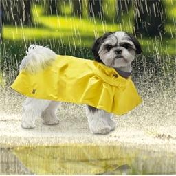 Cape de pluie jaune ou marine pour chien