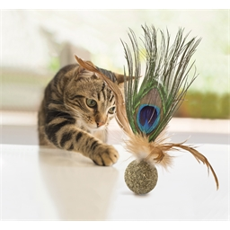 Balle herbe à chat & plumes