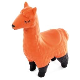 Jouet lama orange pour chien