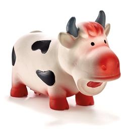 Jouet vache latex pour chien